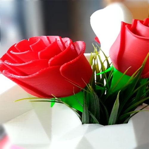 Роза на 3D-принтере