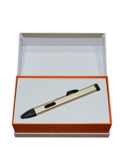 3D ручка 3DPen-05 с oLed дисплеем и USB золотая