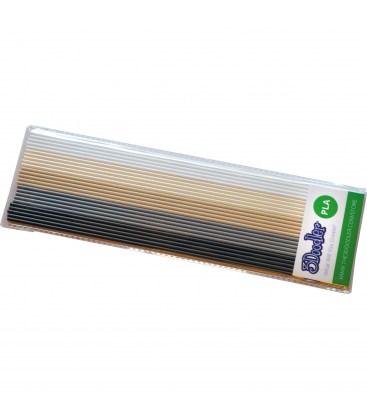 Набор стержней PLA пластика для 3D ручки 3Doodler Create (Хаки и Крем)