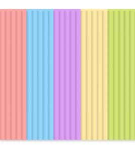 Набор стержней PLA пластика для 3D ручки 3Doodler Create (Пастель)