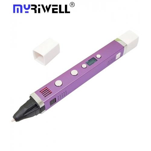 3D Ручка Myriwell RP-100C С LED Экраном и USB Фиолетовая(Purple)