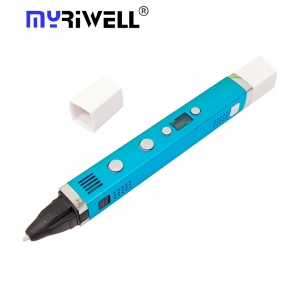 3D Ручка Myriwell RP-100C С LED Экраном и USB Голубая (LightBlue)