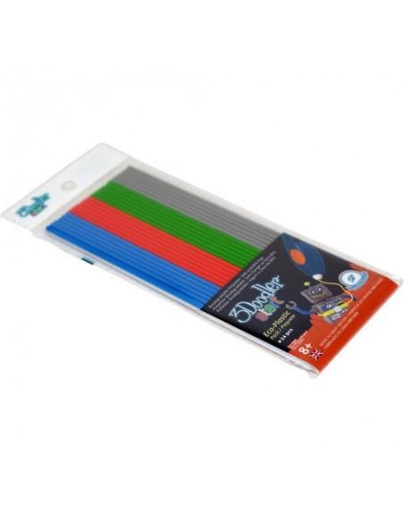 Набор Стержней Эко-Пластика Для 3D Ручки 3Doodler Start (Базовый Микс)
