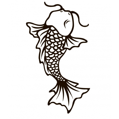 Рыба кои (трафарет для 3D ручки)