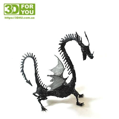 Объемный Дракон (трафарет для 3D ручки)