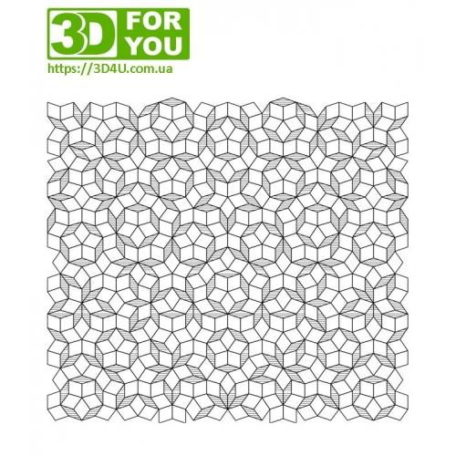 Мозаика Пенроуза (трафарет для 3D ручки)