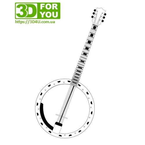 Банджо (трафарет для 3D ручки)