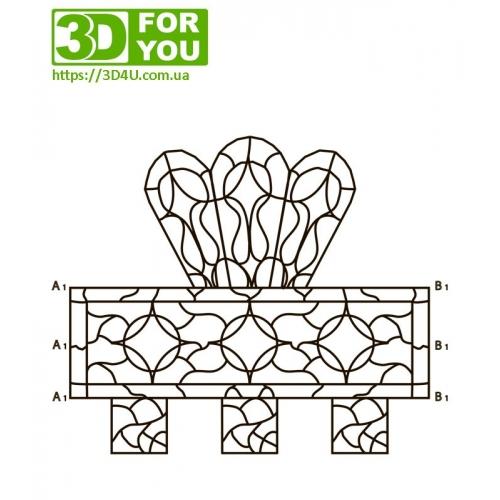 Салфетница (трафарет для 3D ручки)