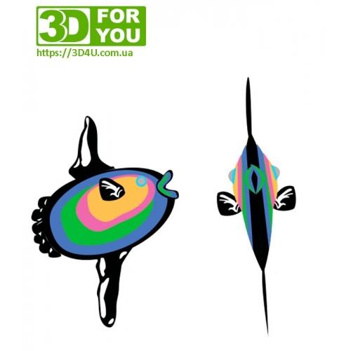 Риба Санфіш (трафарет для 3D ручки)