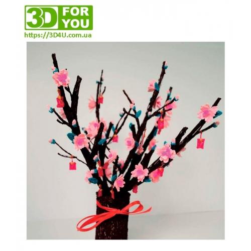 Цвітіння персика (трафарет для 3D ручки)