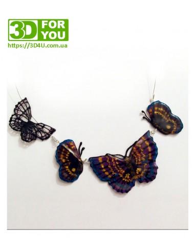 Ожерелье из бабочек (трафарет для 3D ручки)