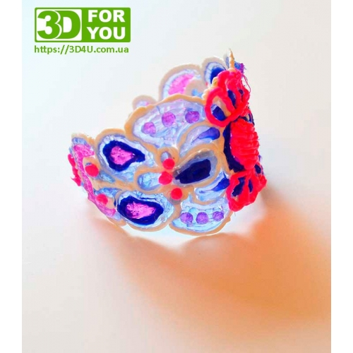 Гарний браслет (трафарет для 3D ручки)