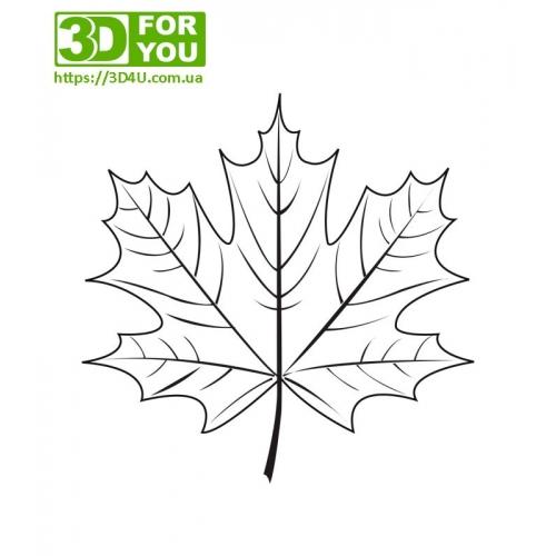 Кленовый лист (трафарет для 3D ручки)