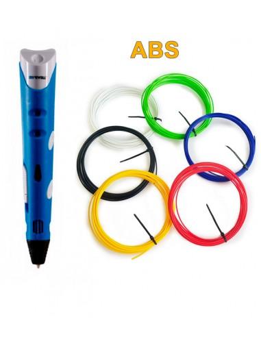 3D-Ручка MyRiwell RP-100A Синя + 30 м ABS (6 кольорів). Набір START