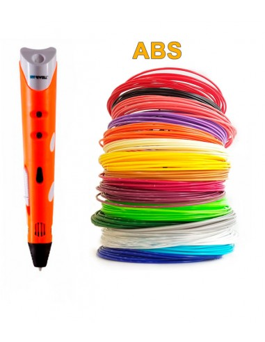 3D-Ручка MyRiwell RP-100A + 90 м ABS (18 кольорів). Набір Super