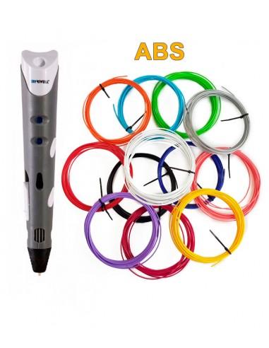 3D-Ручка MyRiwell RP-100A серая + 60 м ABS (12 цветов). Набор PRO