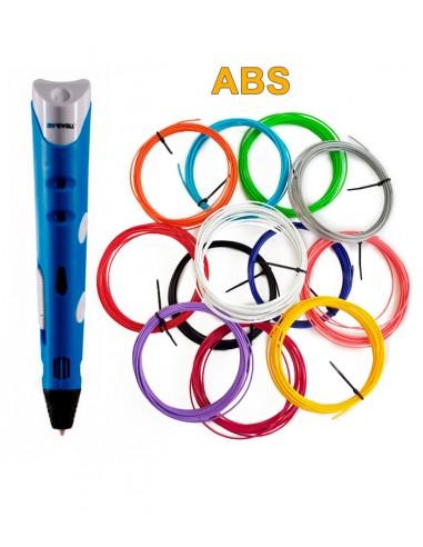 3D-Ручка MyRiwell RP-100A синяя + 60 м ABS (12 цветов). Набор PRO