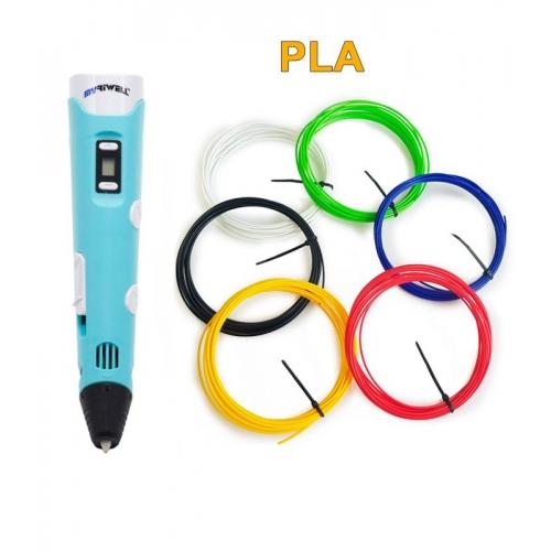 3D-Ручка MyRiwell RP-100B + 30 м PLA (6 цветов). Набор START.