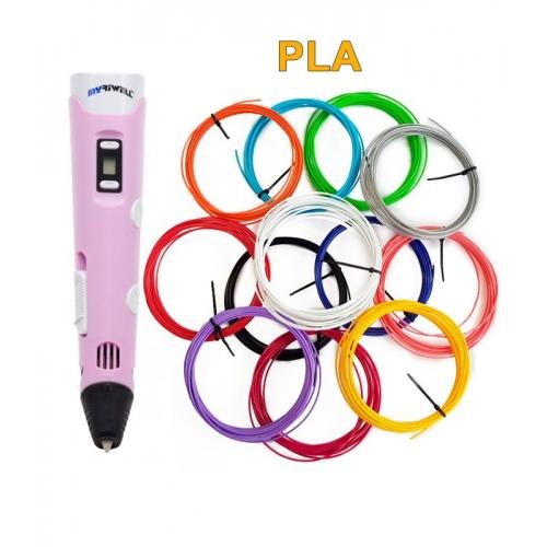 3D-Ручка MyRiwell RP-100B + 60 м PLA (12 цветов). Набор PRO