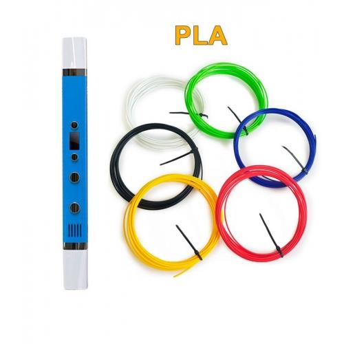 3D-Ручка MyRiwell RP-100C + 30 м PLA (6 цветов). Набор START.