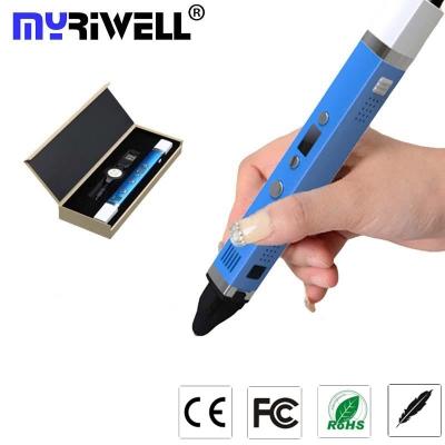 3D-Ручка MyRiwell RP-100C + 30 м ABS (6 цветов). Набор START.