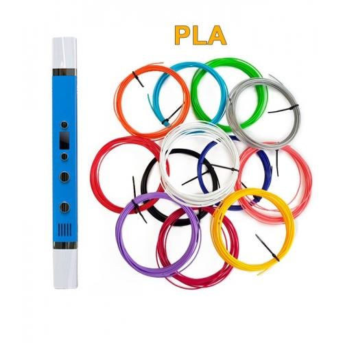 3D-Ручка MyRiwell RP-100C + 60 м PLA (12 цветов). Набор PRO