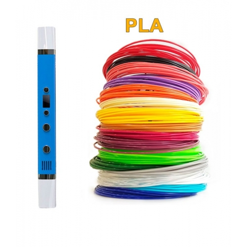 3D-Ручка MyRiwell RP-100C + 90 м PLA (18 кольорів). Набір Super