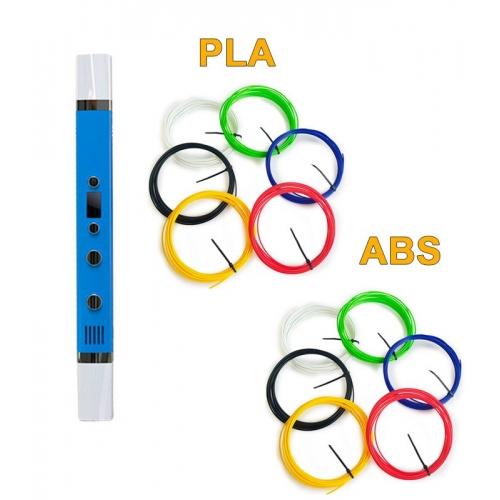 3D-Ручка MyRiwell RP-100C + 60 м ABS та PLA (по 6 кольорів). Набір VIP