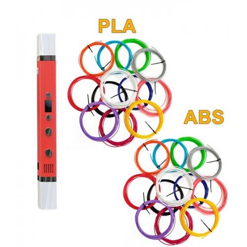 3D-Ручка MyRiwell RP-100C + 120 м ABS...