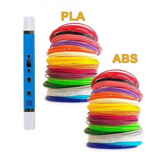 3D-Ручка MyRiwell RP-100C + 180 м ABS та PLA (по 18 кольорів). Набір Gigant