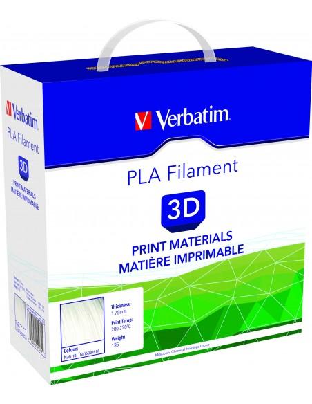 PLA пластик 1.75 мм прозрачный Verbatim