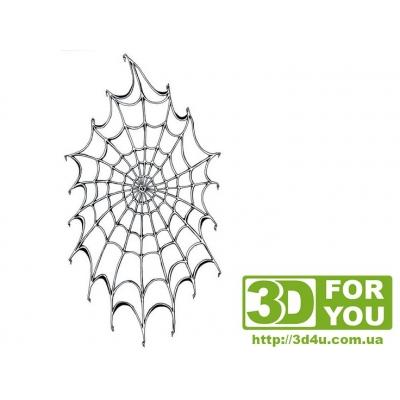 Паутина (трафарет для 3D ручки)