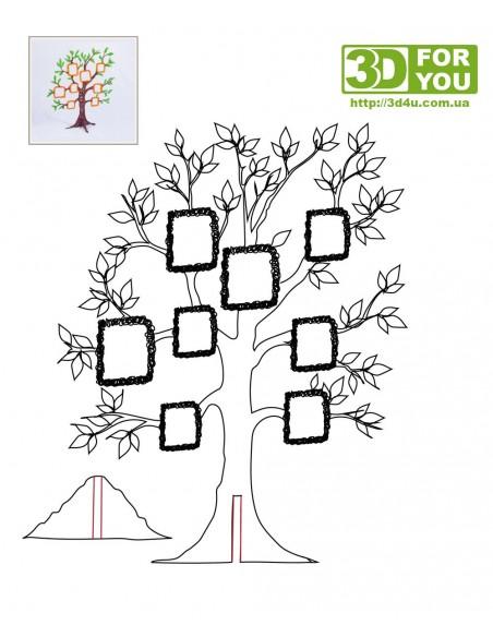 Фамильное дерево (трафарет для 3D ручки)