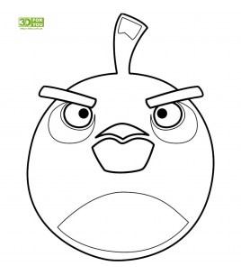 Angry Birds - Черная птица (трафарет для 3D ручки)