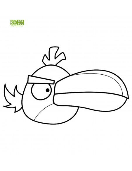 Angry Birds - Зеленая птица (трафарет для 3D ручки)
