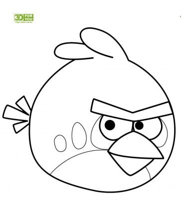 Angry Birds - Красная птица (трафарет для 3D ручки)