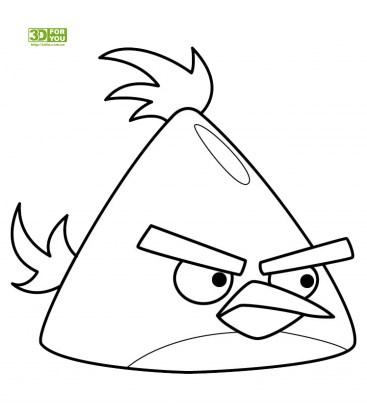 Angry Birds - Желтая птица (трафарет для 3D ручки)