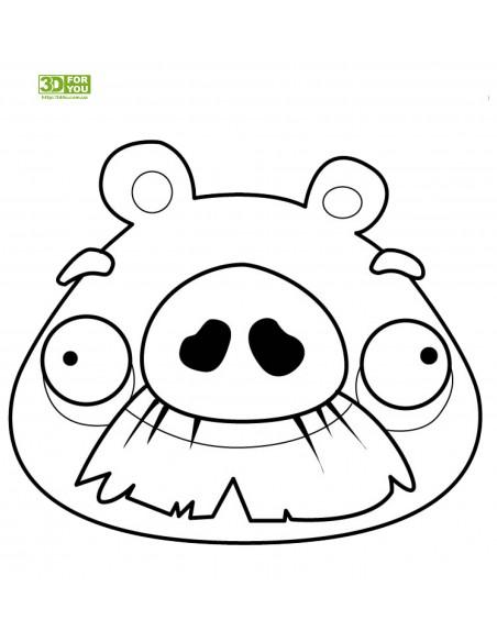 Angry Birds -Свинья (трафарет для 3D ручки)