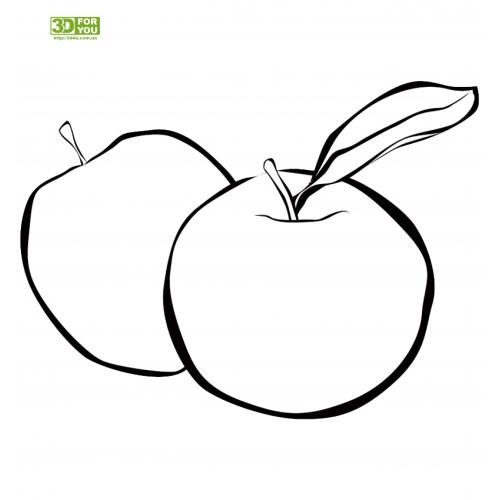 Яблоко (трафарет для 3D ручки)