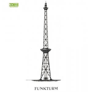 Берлінська радиобашня (трафарет для 3D ручки)