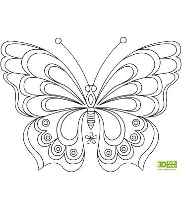 Бабочка (трафарет для 3D ручки)