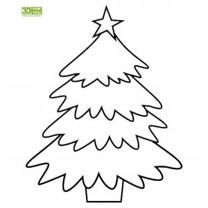 Новогодняя елка (трафарет для 3D ручки)