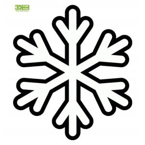 Простая Снежинка (трафарет для 3D ручки)