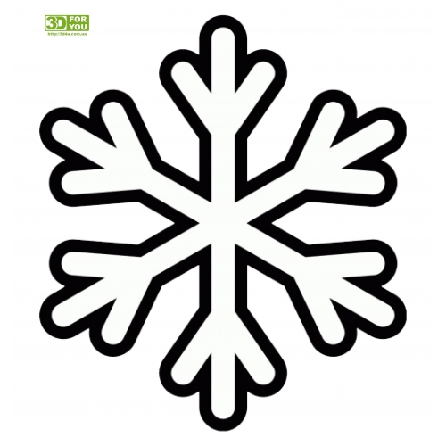 Снежинка (трафарет для 3D ручки)