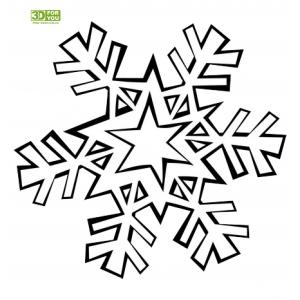 Геометрическая Снежинка (трафарет для 3D ручки)