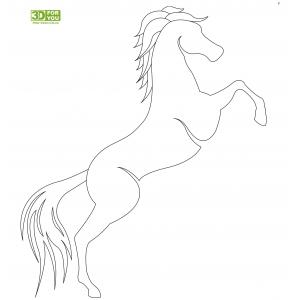 Лошадь (трафарет для 3D ручки)