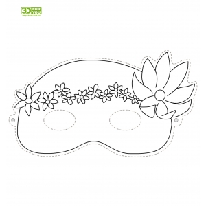 Маскарадная маска (трафарет для 3D ручки)