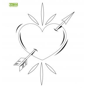 Сердце (трафарет для 3D ручки)