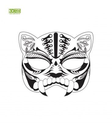 Маска кошки (трафарет для 3D ручки)