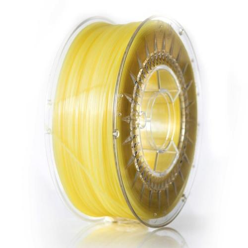 PLA пластик 1.75 мм ярко-желтый прозрачный Devil Design (Польша)